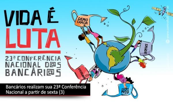 Bancários realizam sua 23ª Conferência Nacional nesta sexta (3) e sábado (4)