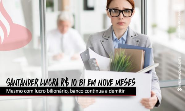 Santander alcança lucro de quase R$ 10 bi em nove meses